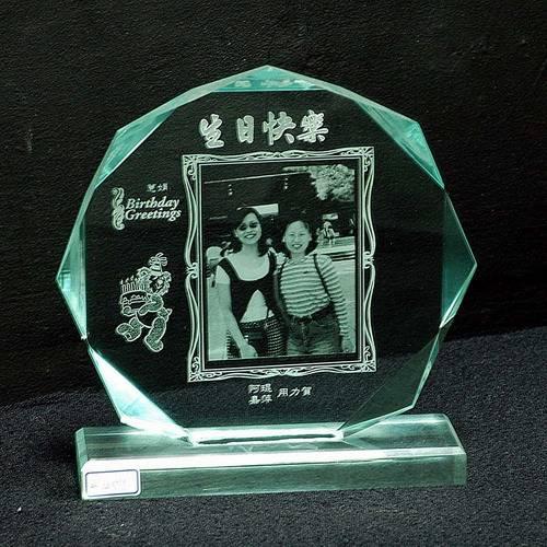 綠八角(小)壓克力獎牌